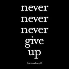 Never give up words 2011