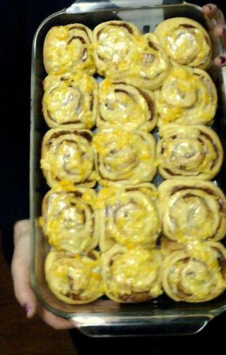Orange rolls final product